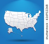 high detailed usa map with... | Shutterstock .eps vector #616912268