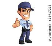 nice security guard  he's...   Shutterstock .eps vector #616917218