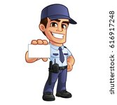 nice security guard  he's... | Shutterstock .eps vector #616917248