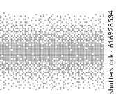 gray and white pixel background.... | Shutterstock .eps vector #616928534