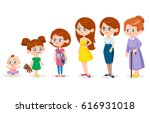 woman of different ages | Shutterstock .eps vector #616931018