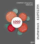 vector company infographic... | Shutterstock .eps vector #616931354