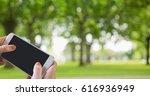 digital composite of hands... | Shutterstock . vector #616936949