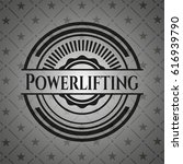 powerlifting dark badge | Shutterstock .eps vector #616939790