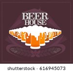beer vector logo design template | Shutterstock .eps vector #616945073