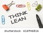 think lean concept on paper | Shutterstock . vector #616946816