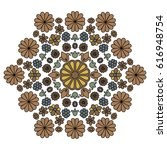 Floral Hexagonal Pattern With...