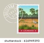 louisiana postage stamp design. ...   Shutterstock .eps vector #616949393