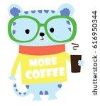 cute animal cartoon artwork... | Shutterstock .eps vector #616950344