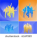 nice people silhouettes | Shutterstock .eps vector #6169585