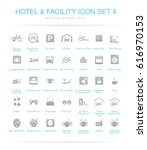 hotel and facilities icon set 4 | Shutterstock .eps vector #616970153