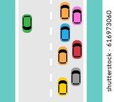 vector illustration of traffic... | Shutterstock .eps vector #616973060