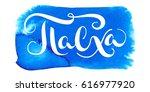 hand drawn vector lettering in... | Shutterstock .eps vector #616977920