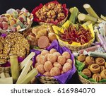 mexican traditional candies... | Shutterstock . vector #616984070
