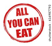 all you can eat sign or stamp...   Shutterstock .eps vector #616987793