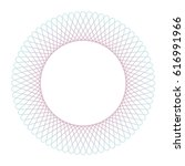 circle guilloch in vector.... | Shutterstock .eps vector #616991966