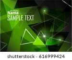 green abstract template for... | Shutterstock .eps vector #616999424