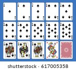 playing cards clubs suite on a... | Shutterstock .eps vector #617005358
