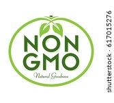 non gmo natural goodness icon... | Shutterstock .eps vector #617015276