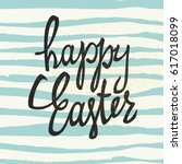"""happy easter"" calligraphy with ... 