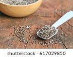 chia seeds | Shutterstock . vector #617029850