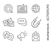 inbound marketing vector icons... | Shutterstock .eps vector #617035193