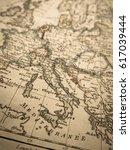antique world map europe | Shutterstock . vector #617039444