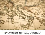 antique world map italy | Shutterstock . vector #617040830