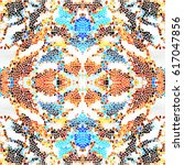 mosaic colorful pattern for...   Shutterstock . vector #617047856