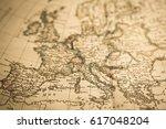antique world map europe   Shutterstock . vector #617048204