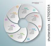 vector abstract 3d paper... | Shutterstock .eps vector #617052014