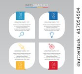 info graphic template for... | Shutterstock .eps vector #617054504