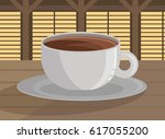 black coffee in a table | Shutterstock .eps vector #617055200