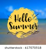 sea background with lettering... | Shutterstock .eps vector #617070518