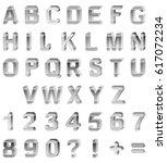 alphabet with monochrome black... | Shutterstock .eps vector #617072234