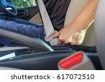 press button to unlock seat belt