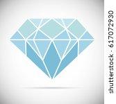 diamond icon vector illustration | Shutterstock .eps vector #617072930