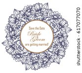 romantic invitation. wedding ... | Shutterstock . vector #617077070