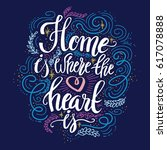 hand lettering typography... | Shutterstock .eps vector #617078888