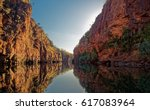 katherine gorge on an early... | Shutterstock . vector #617083964