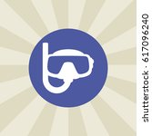snorkel icon. sign design.... | Shutterstock . vector #617096240