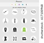 tailoring vector icons for user ... | Shutterstock .eps vector #617100968