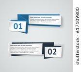vector infographic origami... | Shutterstock .eps vector #617109800