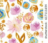 chrisantemum pattern with old... | Shutterstock . vector #617111654