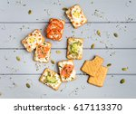 Tasty Square Crackers With...