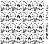 lamp  light bulb with heart... | Shutterstock .eps vector #617115113