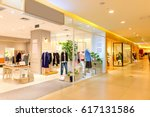 interior of fashion store in... | Shutterstock . vector #617131586