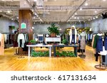 interior of fashion store in... | Shutterstock . vector #617131634