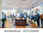 interior of fashion store in... | Shutterstock . vector #617131640