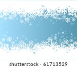 blue background with snowflakes | Shutterstock .eps vector #61713529